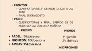 II TORNEO DE PÁDEL Y FRONTÓN