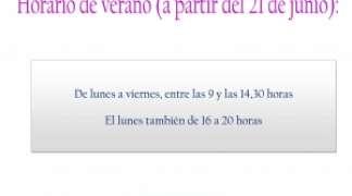Nuevo Horario de Verano - Biblioteca Municipal